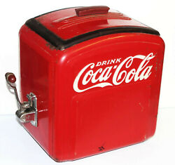Vintage 1930s 1940s Coca Cola Original Syrup Dispenser Coke Red Antique Deco Lid