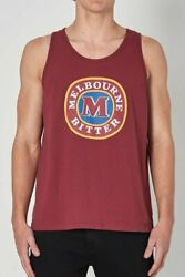 NEW Rolla's Rollas MENS MELBOURNE BITTER WASHED TANK - VINTAGE RED
