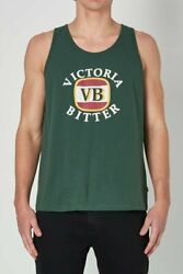 NEW Rolla's Rollas MENS VICTORIA BITTER WASHED TANK - VINTAGE GREEN