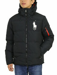 Polo Big Pony Hooded Down Puffer Jacket Coat S To Xxl Big And Tall
