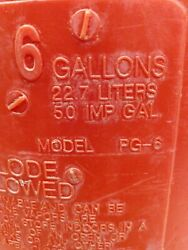 Vintage Eagle 6 Gallon Round Plastic Gas Can Pg 6 Vented With Out Spout