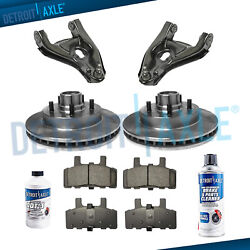 Front Disc Brake Rotors Ceramic Pads Lower Control Arms For Chevy Gmc C1500 2wd