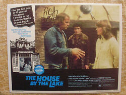 House By The Lake Signed Lc 1'76 By Don Stroud,who's Threatening Brenda Vaccaro