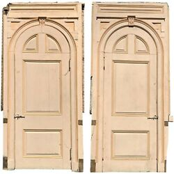 Pair Of 19th Century Paneled Arched Top Doors From Manchester By The Sea Ma