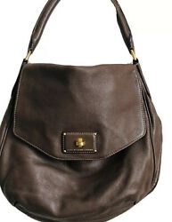 Marc By Marc Jacobs Classic Brown Pebbled Leather Over The Shoulder Bag Purse $55.00