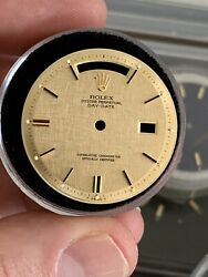 Rolex Champagne Linen 1803 Day Date Dial For Vintage President Watch 1970s