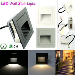 1/10/20x 3w Led Recessed Wall Step Light Stair Lamp Warm /cool White 85-265v Ltw