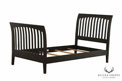 Ethan Allen American Impressions Black Painted Twin Sleigh Bed