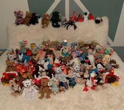 Lot Of Ty Beanie Babies - Rare Retired Original 1990andrsquos - Pristine Condition