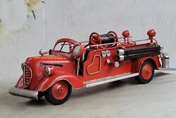 Hand Made Detailed F.d.n.y Georgetown Firetruck Fire Truck Dept For Decorative