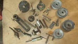 Lot Of 25 Assorted Lathe Tools And Parts. Wrenches Centers Bits Pulleys Lqqk