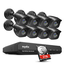 Sannce 8ch Dvr 1080p Cctv Security Camera System Outdoor H264+ Home Email Alert