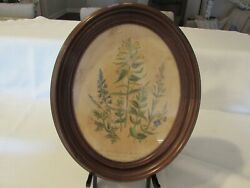 Antique Victorian Oval Walnut Picture Frame 10-3/4 X 13 Overall Speedwell
