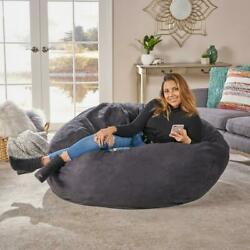 Adult Bean Bag Chair Giant Large Dorm Furniture 5 ft Sofa Lounge College Room