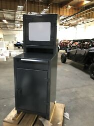 Stronghold Industrial Computer Cabinet With Retractable Keyboard