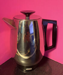 Vintage Webalco Flavo-perk 6-10 Cup Stainless Steel Automatic Percolator Usa