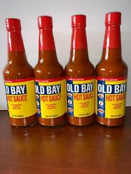 New Mccormick Old Bay Hot Sauce 4-pack 10 Oz Bottles Limited Edition 4/22/2021