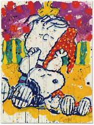 Tom Everhart- Hand Pulled Original Lithograph Who Placed The Wake Up Call