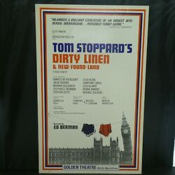 Dirty Linen And New Found Land Theater Broadway Window Card Poster 14 X 22