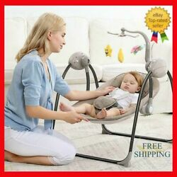 Baby Swing Rocker Electric Baby Cradle With Remote Control Five-point Seat Belt