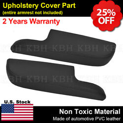 Front Door Panels Armrest Cover Synthetic Leather Fits Toyota Avalon 13-18 Black