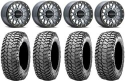 Raceline Podium Bdlk 14 +38mm Gy Wheels 30 Liberty Tires Can-am Defender