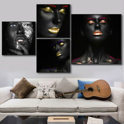 Sexy Black Woman Canvas Wall Art Painting Nordic Poster Modern Home Decoration