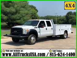 2013 Ford F450 4X4 6.7 POWERSTROKE DIESEL 11' BED SERVICE UTILITY TRUCK Crew Cab