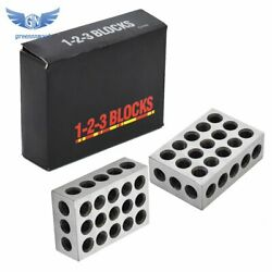 1 Matched Pair Ultra Precision 1-2-3 Blocks 23 Holes .0002 Machinist 123 Jig