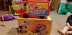 1983 Ideal The Chipmunks On-tour Van Traveling Playset + Extras