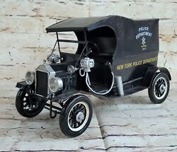 Hand Made Vintage New York Police Dept 1914 Wagon Car Great Detailed Statue Deal