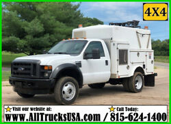 2008 Ford F450 4X4 6.8 V10 GAS 9' ENCLOSED BED SERVICE UTILITY Regular Cab TRUCK