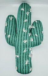 Pillowfort Cactus Shaped Decorative Pillow Home Decorative. Green. New #2