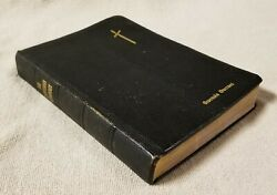 Vintage 1943 The Lutheran Hymnary Hymnal Service Worship Book Black Leather
