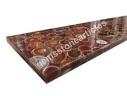 4and039x2and039 German Onyx Agate Stone Dining Table Top Handicraft Decoration Hallway Art
