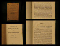 1843 True 1st Indian Tribes Lang And Taylor Report On Cherokee Native Americans