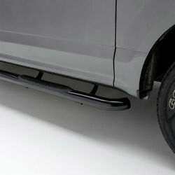 Aries 3 Round Side Bar Kit Carbon Steel Sg Blk For Toyota Tacoma 05-20 Cc