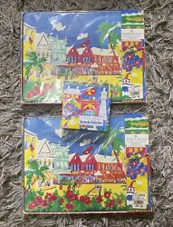 Vintage Pimpernel 6 Coasters And 8 Placemats Bermuda Collection Brand New Sealed
