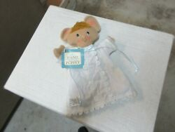 Hand Puppet , Hallmark Mandy Mouse , 7x9 , Vintage , Collectible