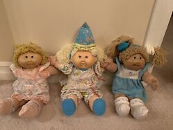 Lot Of 3 Vintage Cabage Patch Kid Doll Mixed Collection Toys