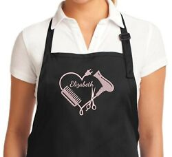 Custom Apron Hair Stylist Apron Embroidered - Personalized Hair Cutting Aprons