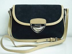 BIMBA & LOLA Handbag Cross Body Bag Suede Leather  $60.00