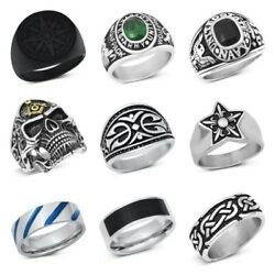 New Stainless Steel Band Ring Designs Sizes 7-14