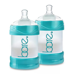 Bare Polypropylene Air Free Bottles With Easy Latch Nipples Turquoise