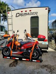 Rv Camper Double Motorcycle Scooter 150cc Dirt Bikes Carrier Rack 1500 Lbs