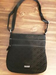 Vera Bradley Crossbody Large Hipster Purse Quilted Black