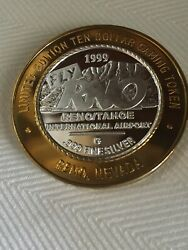 10 Gaming Token Fly Rno 1999 -ford Coupe 1940 Reno/ Tahoe International Airport