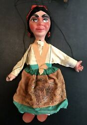 Vintage Mexican Folk Art Hombres Marionette String Puppets Incredible Antique 8