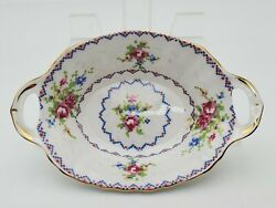 Vintage Royal Albert Petit Point Small Double Handled Tray