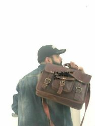 Messenger Shoulder Men Retro Mens Laptop Satchel Handbag Brown 15quot; Bag Leather $52.00